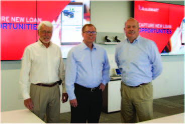 L to R MBL's president/CEO, Gordon Dames; CU Direct's COO, Bob Child, and Joe Schroeder, MBL chairman and CEO of Ventura County Credit Union